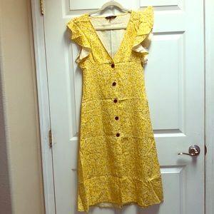 NWT Midi Yellow Dress